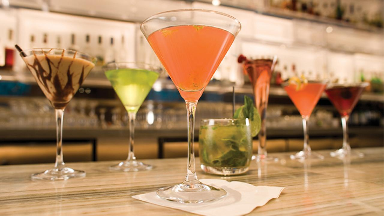 Take a break and indulge in crafty cocktails at Cosmos!