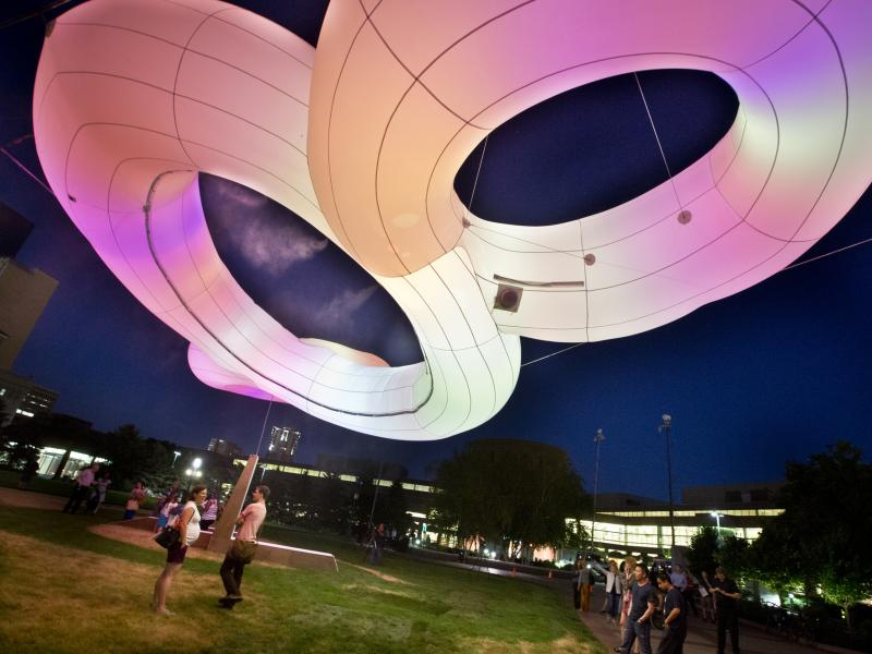 THE MINNEAPOLIS SCULPTURE THAT MISTS ITSELF AND CHANGES COLOR